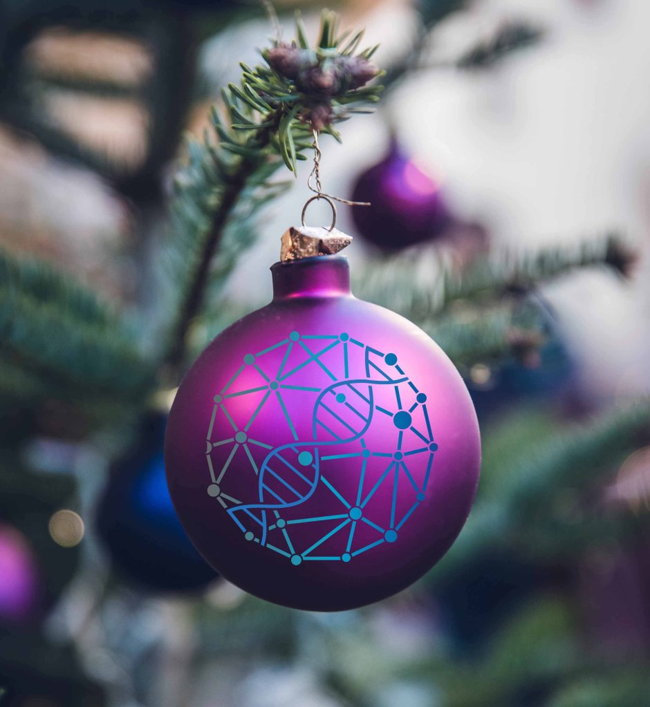 Christmas ornament with MLFPM logo