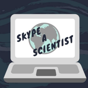 Skype a scientist graphic.